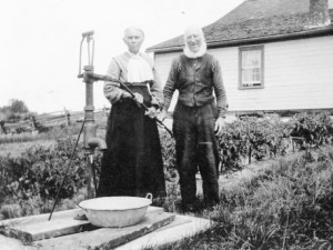 My great grandparents at Victoria Road, Ontario, around 1920